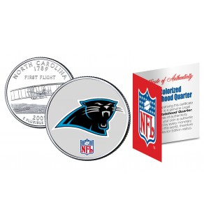 CAROLINA PANTHERS NFL North Carolina US Statehood Quarter Colorized Coin  - Officially Licensed