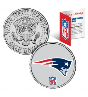 NEW ENGLAND PATRIOTS NFL JFK Kennedy Half Dollar US Colorized Coin - Officially Licensed