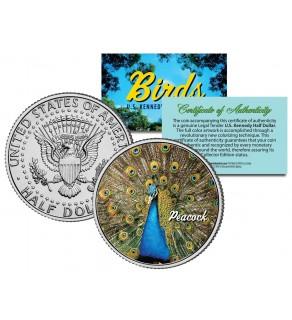 PEACOCK Collectible Birds JFK Kennedy Half Dollar Colorized US Coin