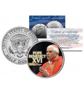 POPE BENEDICT XVI Colorized JFK Kennedy Half Dollar U.S. Coin - 265th Pope