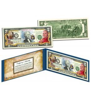 POPE JOHN PAUL II BEATIFICATION Genuine Legal Tender U.S. $2 Bill