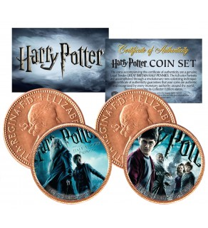 Harry Potter HALF-BLOOD PRINCE Great Britain Legal Tender 2-Coin Set - Officially Licensed