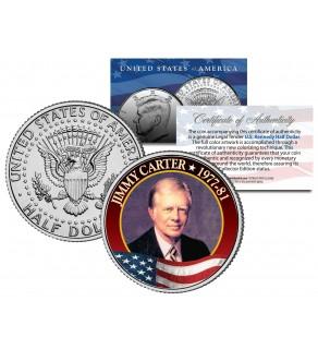JIMMY CARTER President - 1977-1981 - JFK Kennedy Half Dollar Colorized U.S. Coin