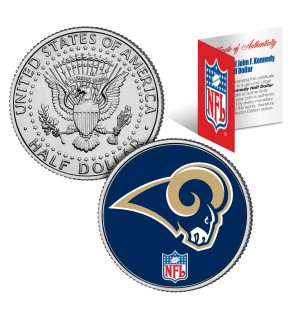 ST. LOUIS RAMS NFL JFK Kennedy Half Dollar US Colorized Coin - Officially Licensed