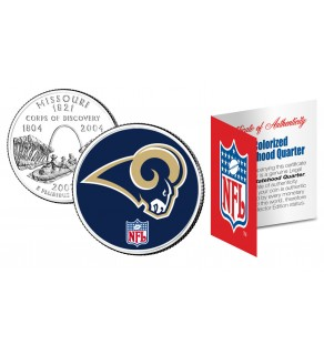 ST. LOUIS RAMS NFL Missouri US Statehood Quarter Colorized Coin  - Officially Licensed