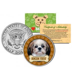 SHIH TZU Dog JFK Kennedy Half Dollar U.S. Colorized Coin