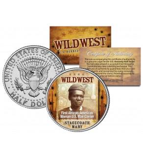STAGECOACH MARY - Wild West Series - JFK Kennedy Half Dollar U.S. Colorized Coin