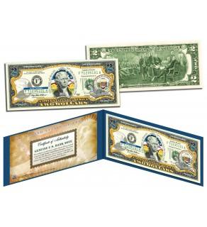 HAWAII $2 Statehood HI State Two-Dollar U.S. Bill - Genuine Legal Tender
