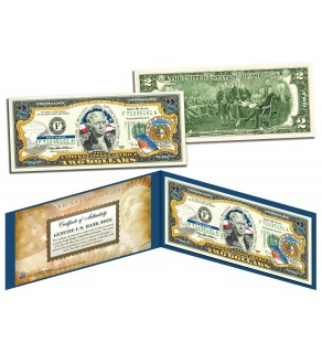 MISSOURI $2 Statehood MO State Two-Dollar U.S. Bill - Genuine Legal Tender