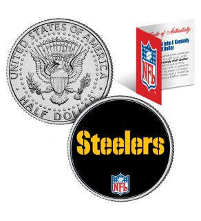 PITTSBURGH STEELERS NFL JFK Kennedy Half Dollar US Colorized Coin - Officially Licensed