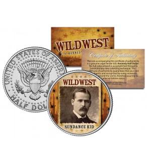 SUNDANCE KID - Wild West Series - JFK Kennedy Half Dollar U.S. Colorized Coin