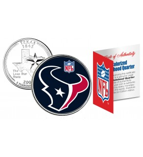 HOUSTON TEXANS NFL Texas US Statehood Quarter Colorized Coin  - Officially Licensed