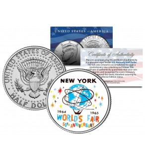 WORLD'S FAIR 1964 1965 NEW YORK - 50th Anniversary - 2014 JFK Kennedy Half Dollar US Coin