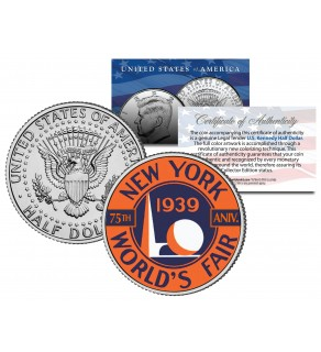 1939 New York WORLD'S FAIR - 75th Anniversary - 2014 JFK Half Dollar US Coin LIMITED