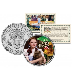 """WIZARD OF OZ """" Dorothy & Toto """" JFK Kennedy Half Dollar US Coin - Officially Licensed"""