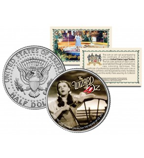 """WIZARD OF OZ """" Over the Rainbow """" JFK Kennedy Half Dollar US Coin - Officially Licensed"""