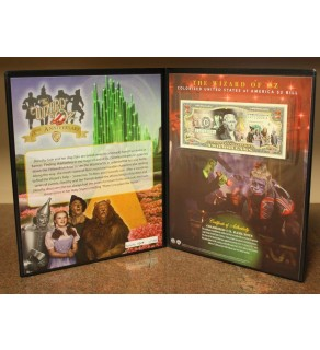 WIZARD OF OZ - 70th Anniversary - Genuine Legal Tender US $2 Bill - Officially Licensed - with COLLECTIBLE FOLIO