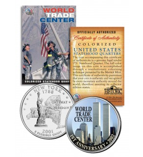 WORLD TRADE CENTER - 1st Anniversary - 9/11 New York State Quarter U.S. Coin WTC