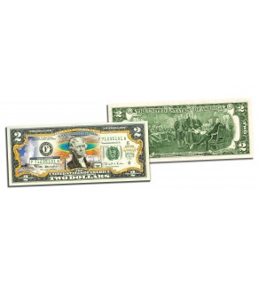 YELLOWSTONE NATIONAL PARK Colorized $2 Bill - Genuine Legal Tender - Special Pricing