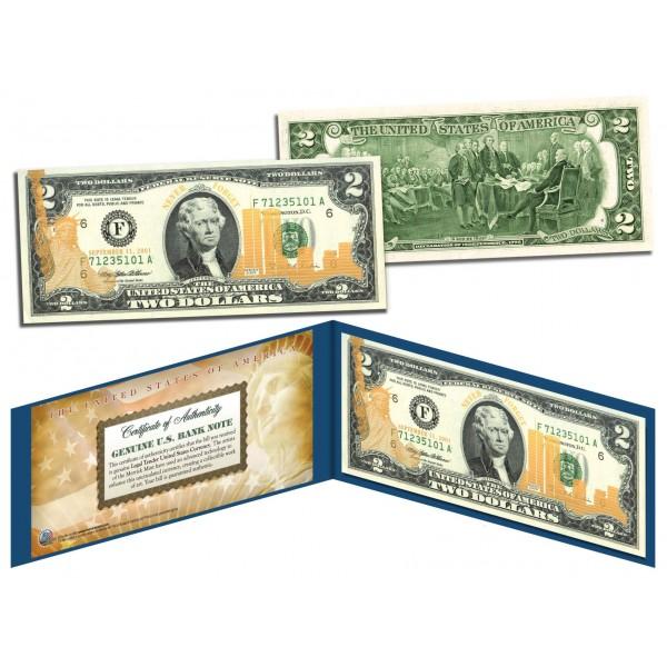 SILVER HOLOGRAM *Crackle* Genuine Legal Tender $2 US BILL *MUST SEE* Limited Ed.