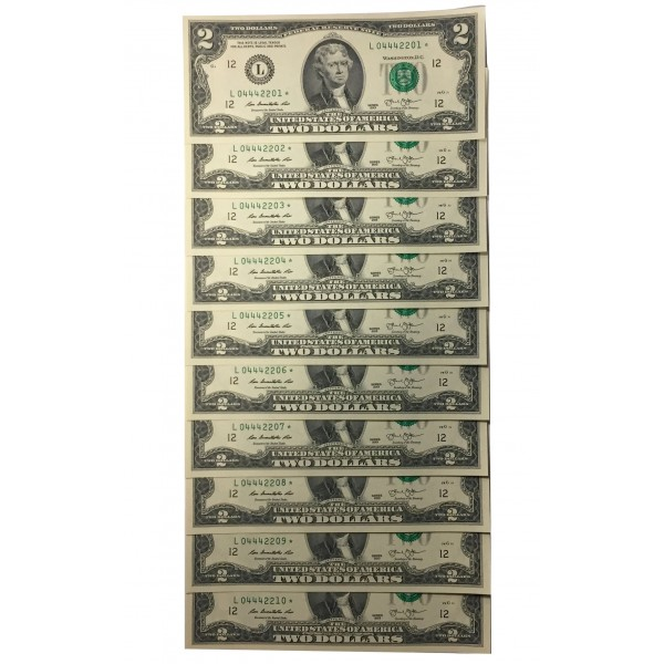 2 dollar bill with star after serial number | Are dollar