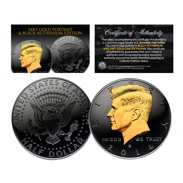 50th Anniversary *SPECIAL 50 YEAR LOGO* 2014 JFK Kennedy Half Dollar US Coin P