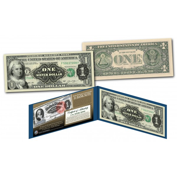 1886 Martha Washington One-Dollar Silver Certificate designed on ...