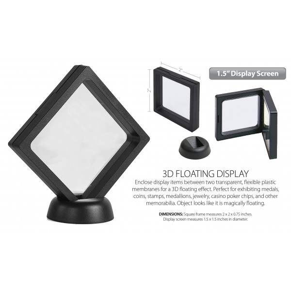3D Floating 2-Sided View-Thru Coin Display Frame Holder Box Case ...