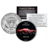 1963 FERRARI 250 LM - Most Expensive Cars Sold at Auction - Colorized JFK Half Dollar U.S. Coin