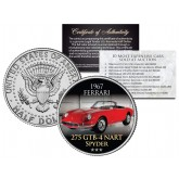 1967 FERRARI - 275 GTB-4 NART SPYDER - Most Expensive Cars Sold at Auction - Colorized JFK Half Dollar U.S. Coin