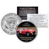 1953 FERRARI - 375MM BERLINETTA COMPETIZIONE - Most Expensive Cars Sold at Auction - Colorized JFK Half Dollar U.S. Coin