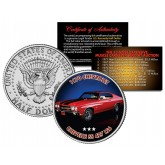 1970 CHEVROLET CHEVELLE SS 427 LS6 - Most Expensive Muscle Cars Ever Sold at Auction - Colorized JFK Half Dollar U.S. Coin