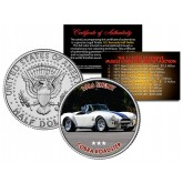 1966 SHELBY COBRA ROADSTER - Most Expensive Muscle Cars Ever Sold at Auction - Colorized JFK Half Dollar U.S. Coin
