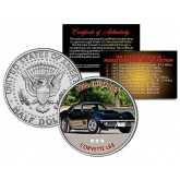 1968 CHEVROLET CORVETTE L88 - Most Expensive Muscle Cars Ever Sold at Auction - Colorized JFK Half Dollar U.S. Coin