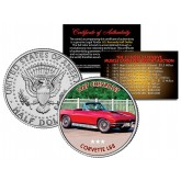 1967 CHEVROLET CORVETTE L88 - Most Expensive Muscle Cars Ever Sold at Auction - Colorized JFK Half Dollar U.S. Coin