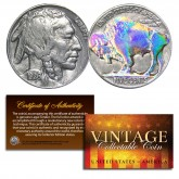 1930's 5 Cent Original Indian Head Buffalo Nickel Full Date - HOLOGRAM