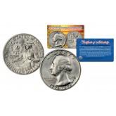 1976 S Washington Bicentennial Quarter Gem BU 40% Silver US Coin with COA & CAPSULE