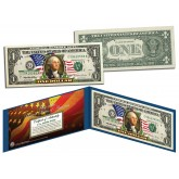 United States of America - Flowing Flag - Legal Tender $1 Bill COLORIZED Currency