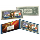 United States of America Flag - New Design - Legal Tender $1 Bill FULLY COLORIZED