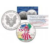 GLOW IN THE DARK Colorized 2001 American Silver Eagle Dollar 1 oz U.S. Coin