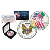 2016 1 oz Colorized 2-Sided American Silver Eagle Coin (BU) with BOX & COA