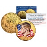 INDEPENDENCE DAY July 4th FIREWORKS JFK Kennedy Half Dollar U.S Coin with COA