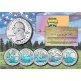 2018 America The Beautiful HOLOGRAM Quarters U.S. Parks 5-Coin Set with Capsules