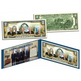 LIVING PRESIDENTS Official Legal Tender U.S. $2 Bill - BUSH OBAMA BUSH CLINTON Jimmy CARTER