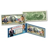 BARACK OBAMA Official * 44th President * Genuine Legal Tender Colorized U.S. $2 Bill