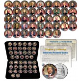 ALL 43 United States PRESIDENTS 43-Coin Complete Set Colorized State US Quarters