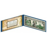 "NORTH DAKOTA State $1 Bill - Genuine Legal Tender - U.S. One-Dollar Currency "" Green """
