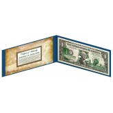 "NEW JERSEY State $1 Bill - Genuine Legal Tender - U.S. One-Dollar Currency "" Green """