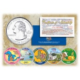 2004 US Statehood Quarters COLORIZED Legal Tender - 5-Coin Complete Set - with Capsules & COA