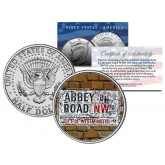BEATLES - The Original ABBEY ROAD Street Sign - JFK Kennedy Half Dollar U.S. Coin